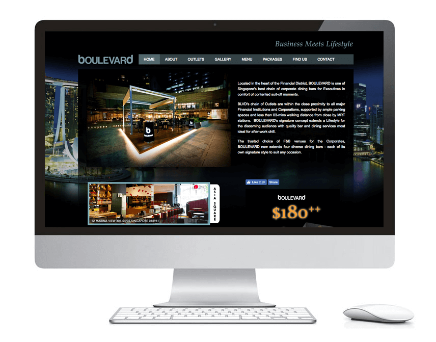 web design portfolio blvd