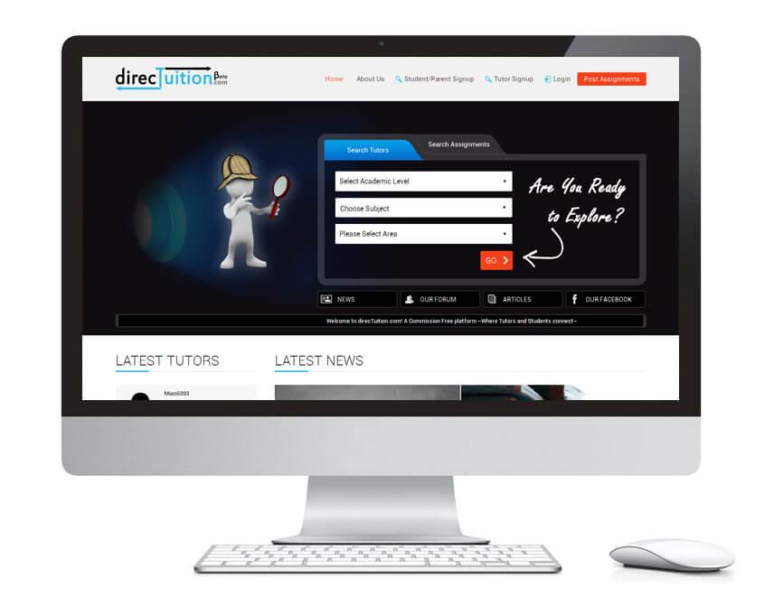 web design portfolio dt
