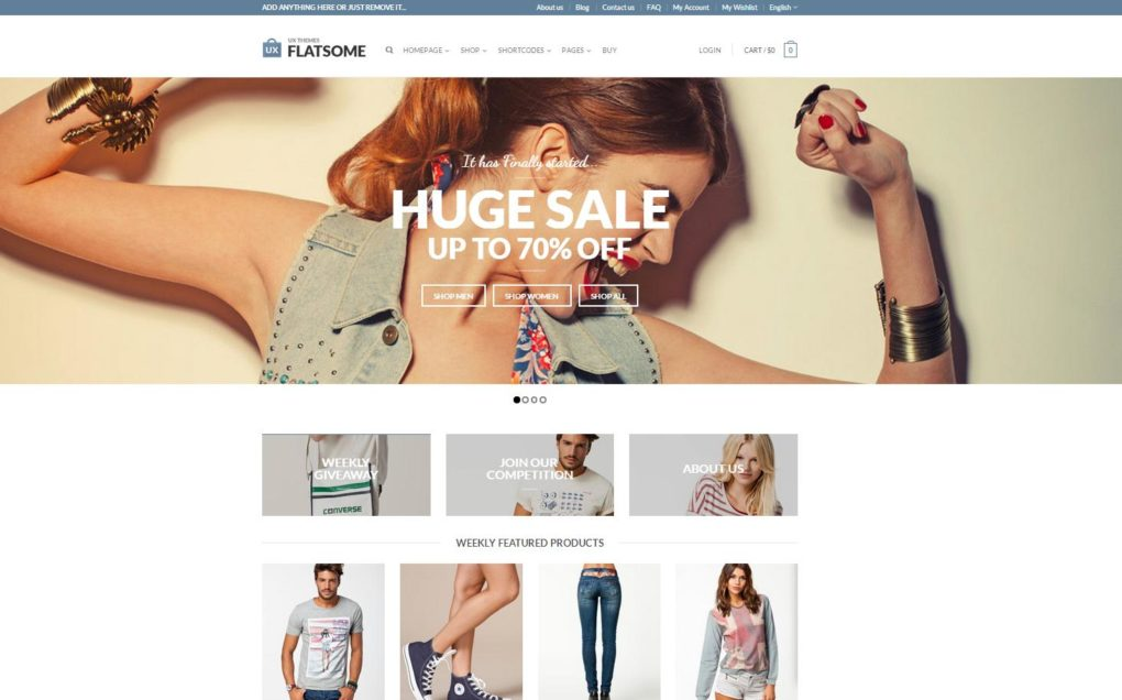 FLASTSOME ECOMMERCE WEB DESIGN WORDPRES THEME