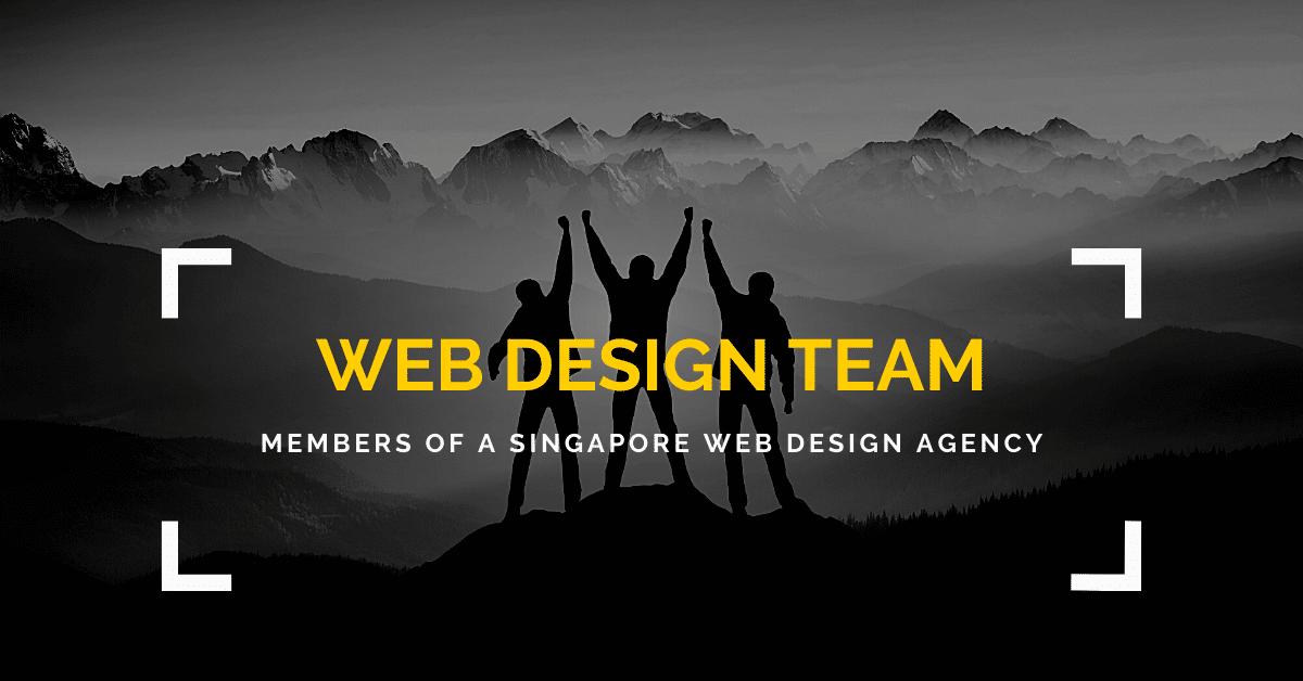 web design team members of a singapore web design agency